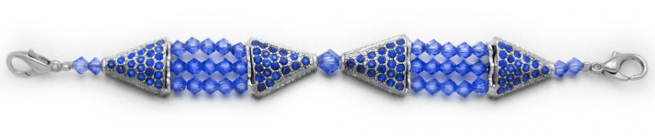 Designer Bead Medical Bracelets Study in Blue 0927