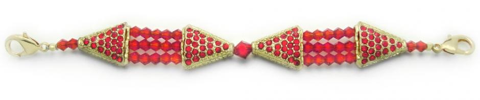 Designer Bead Medical Bracelets Study in Red 0931