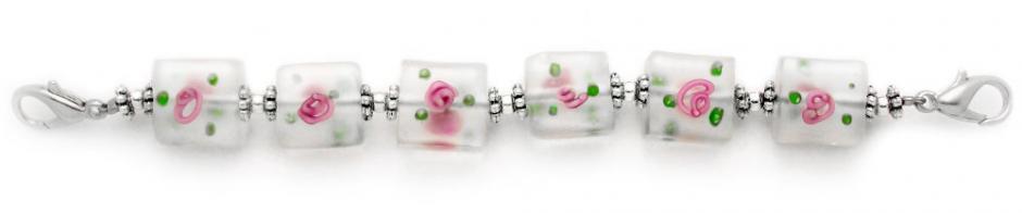 Designer Bead Medical Bracelets Lalique en Rose 1123