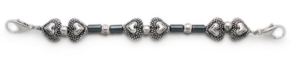 Designer Bead Medical Bracelets Hearts for Victoria 1189