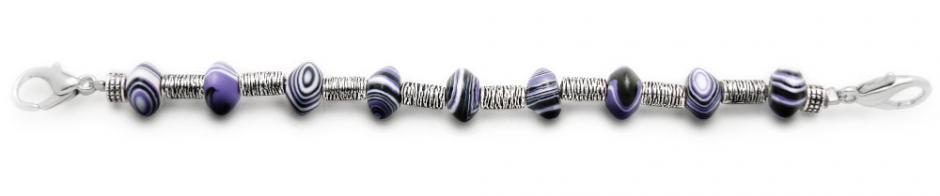 Designer Bead Medical Bracelets Purple Dragon I 1197