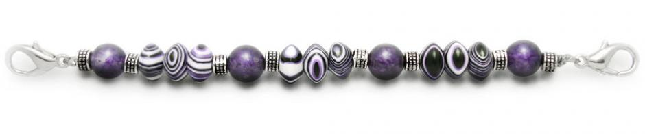 Designer Bead Medical Bracelets Purple Dragon III 1199