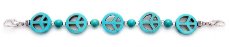 Designer Bead Medical Bracelets Peaceful World II 1204