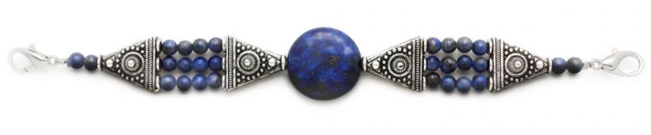 Designer Bead Medical Bracelets Lapis in the Round 1258