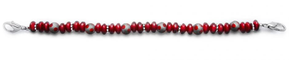 Designer Bead Medical Bracelets Ruby-Duby 1280