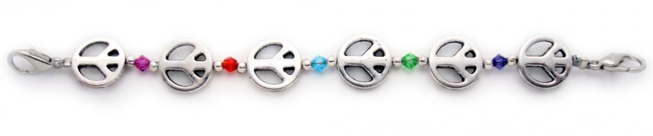 Designer Bead Medical Bracelets Peace•Love•Style 1449
