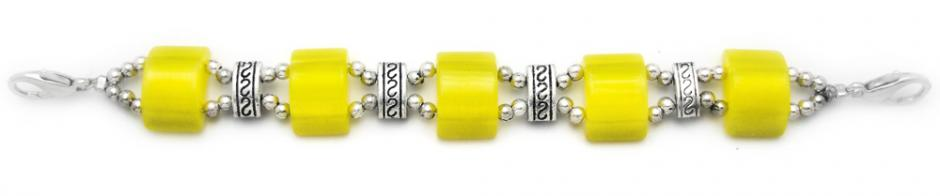 Designer Bead Medical Bracelets Mystique Yellow 1577