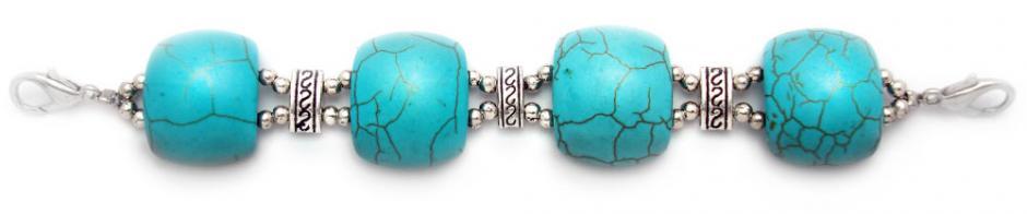 Medical ID Bracelet 1587 Southwestern Summer in Turquoise by Artist Abbe Sennett