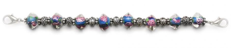 Designer Bead Medical Bracelets Crystal Bluzz 1644