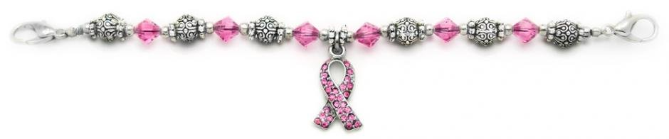 Beaded Medical ID Bracelet Stand Up For the Pink 1674