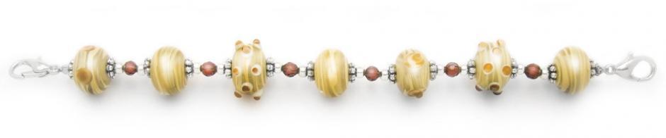 Designer Bead Medical Bracelets Tropical Beige Breeze 1684
