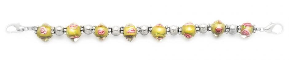 Designer Bead Medical Alert ID Bracelets Crystal Yeozz 1688