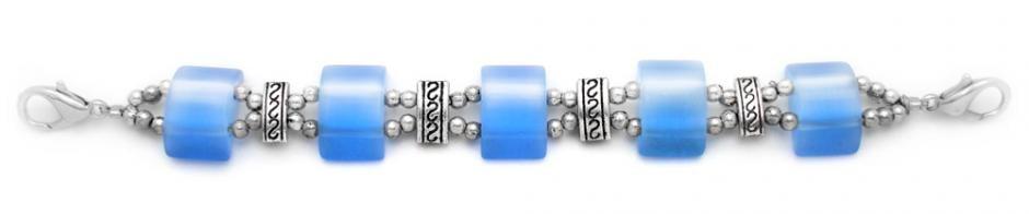 Designer Bead Medical Bracelets Cats Eye Mystique Baby Blue 1696