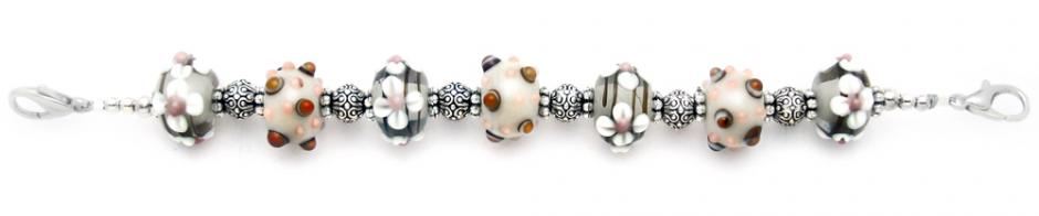 Designer Bead Medical Bracelets Kathys Autumn Flowers 1738