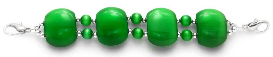 Designer Bead Medical Bracelets Green Eyes 1810