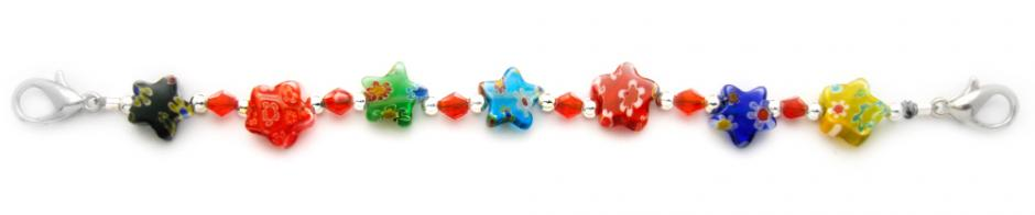 Designer Bead Medical Bracelets Star's Play in Red & More 1813
