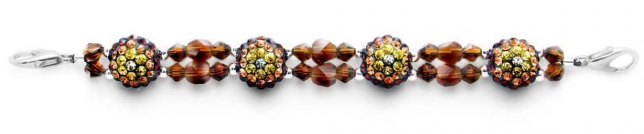 Beaded Medical Bracelets Delightful Domes-Brown 1877