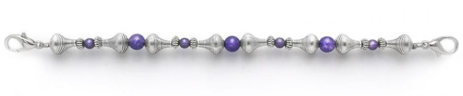 Medical ID Bracelet 1942 Purple Phase by Abbe Sennett