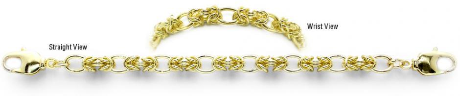 Designer Gold Medical Bracelets Bacio Oro 2034