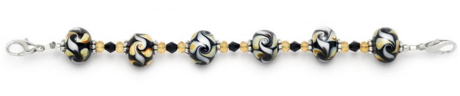Designer Bead Medical Bracelets Autumn Swirl I 9000