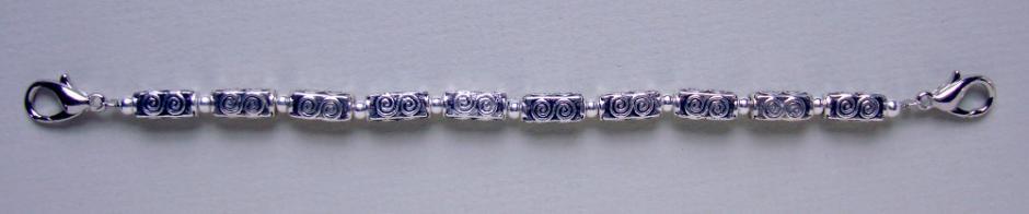 Medical ID Bracelet 9610 Stroke of Silver II by Artist Abbe Sennett