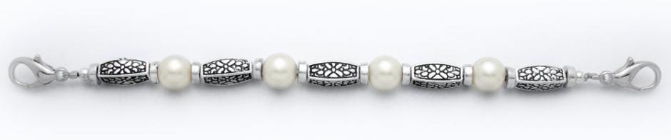 Designer Bead Medical Bracelets Pearl Elegance 9744