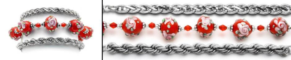 Designer Medical Bracelet Set - Pink Rose at Sunset ll 1202