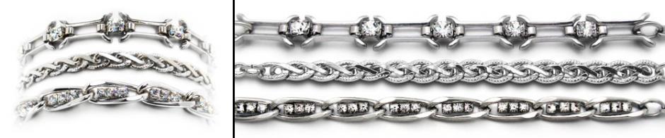 Designer Silver Medical Bracelet Set Silverado 2030